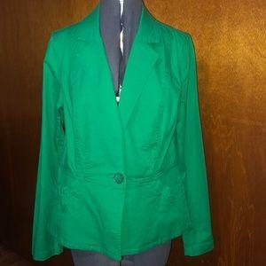 Cabi grass green color medium jacket euc